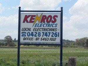 Kenros Sign 1