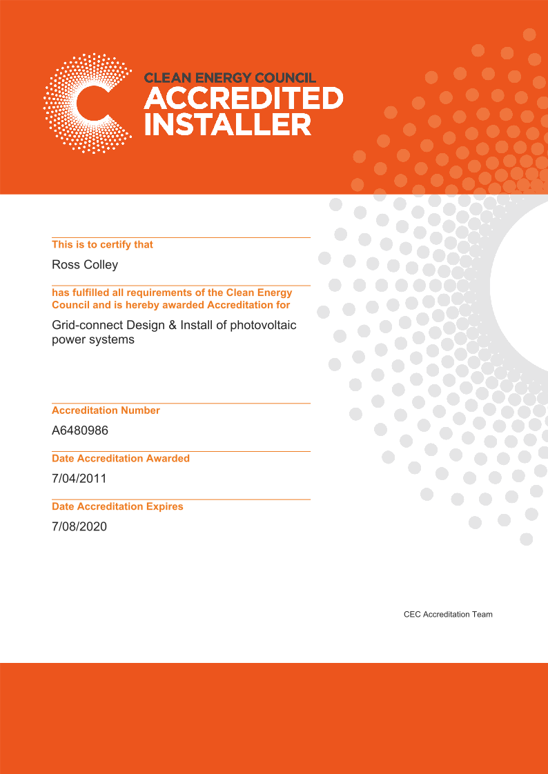 Clean Energy Counsil Accredited Installer